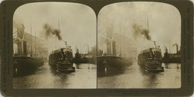 Shipping in the busy harbor of Buffalo, U.S.A.
