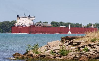 EDWIN H. GOTT; Detroit River passage #10