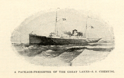 A package freighter of the Great Lakes -- S. S. CHEMUNG