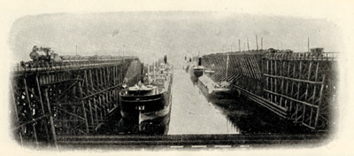 Ore shipping docks at Duluth