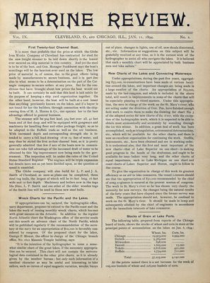 Marine Review (Cleveland, OH), 11 Jan 1894