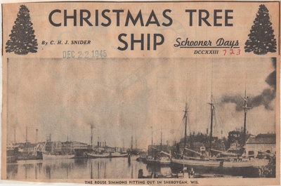 christmas tree ship schooner days dccxxiii 723