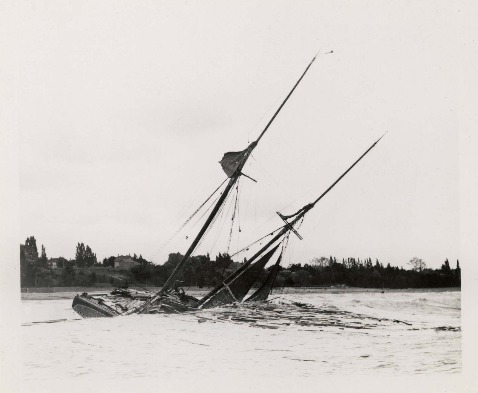 Full Image View: Shipwrecked schooner: Maritime History of ...