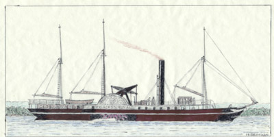 Drawing of str. Princess Royal
