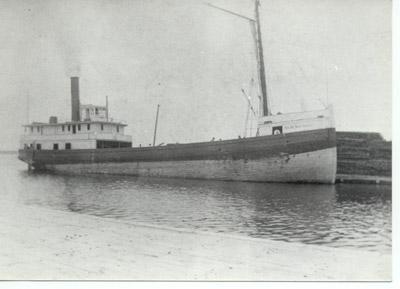 The steam barge D.R. VAN ALLEN