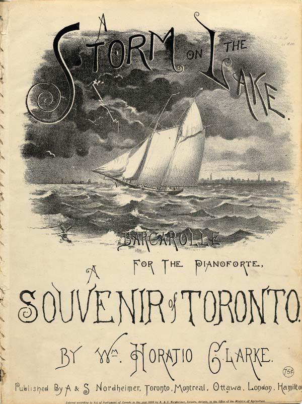 A Storm on the Lake: Barcarolle for the Pianoforte, A Souvenir of Toronto