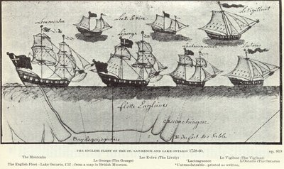 The English Fleet on the St. Lawrence and Lake Ontario 1758-60