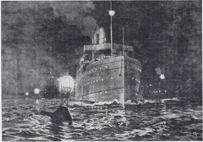Night Scene at Ballard's Reef, Detroit River