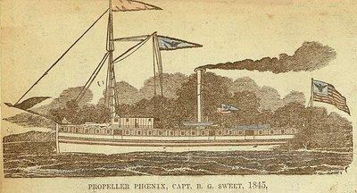 Propeller Phoenix, Capt. B. G. Sweet, 1845