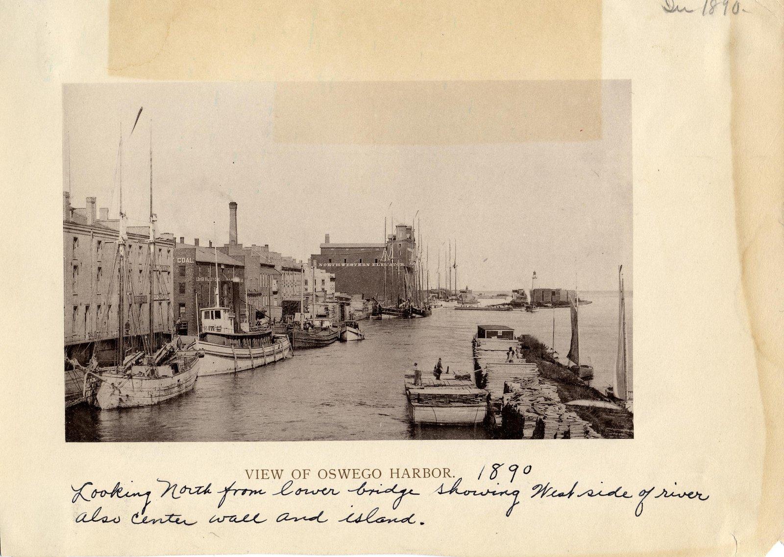 View of Oswego harbor