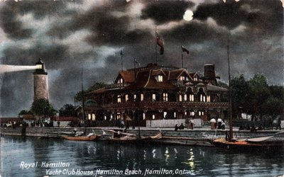 Royal Hamilton Yacht Club House, Hamilton Beach, Hamilton Ont.