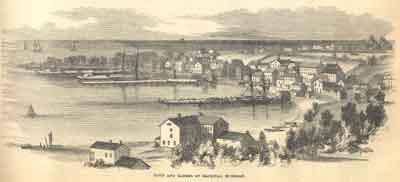 Town and Harbor of Mackinac, Michigan