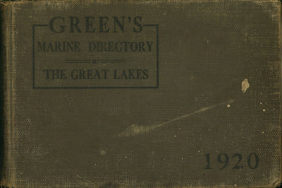 Green's Marine Directory of the Great Lakes, 1920