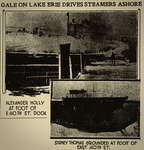 Crew and Steamer SInk As Ships Litter Shores