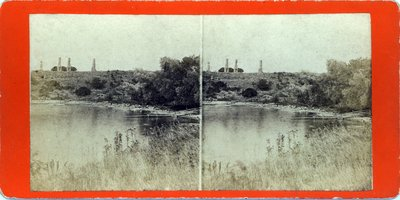 View of Fort Carleton [sic: Fort Haldimand], showing Bluff and Bay