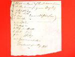 Schooner Livonia, Manifest, 9 June 1820
