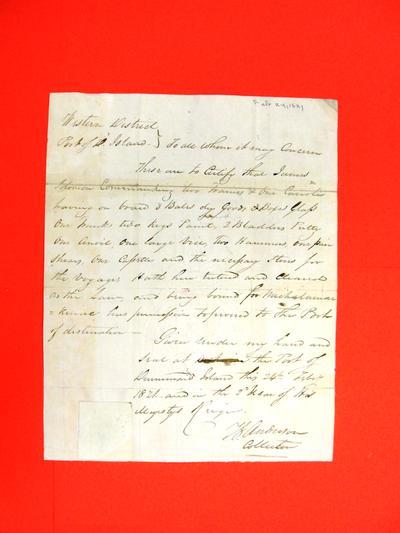 Sleigh, James Solomon, Declaration, 24 Feb 1821