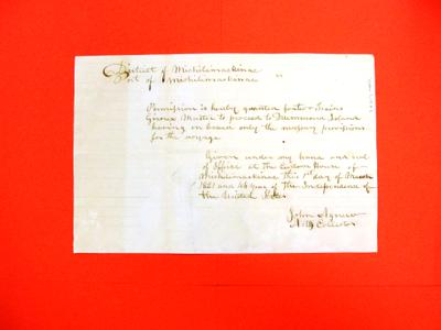 Sleigh, Giroux, Declaration, 1 Mar 1821