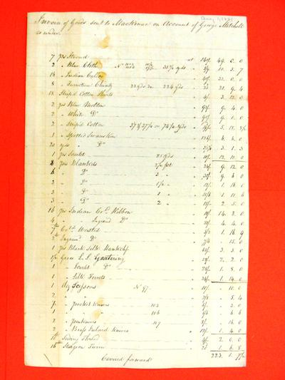 Invoice, 1 Aug 1821: Entries for 21 May and 19 July 1821