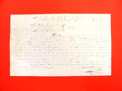 Declaration, 17 Aug 1822: USA v Laurent Rolette, debt;