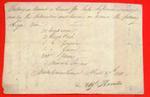 Canoe, Aug't Hamelin, Bill of Lading, 27 Apr 1811