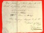 Boats, L. Crawford, Bill of Lading, 27 Apr 1811