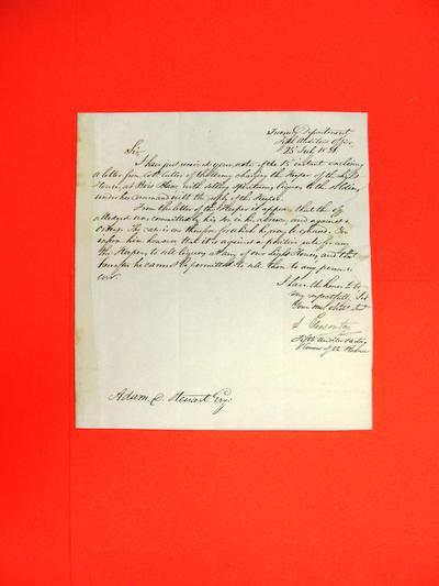 Correspondence, 25 Jul 1831, Treasury Dept.