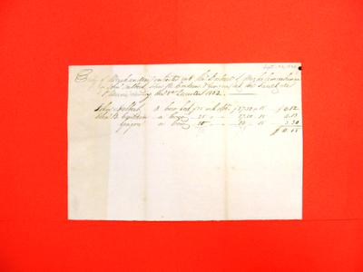 Manifest, 30 Sep 1832, Quarterly Entry of Merchandise