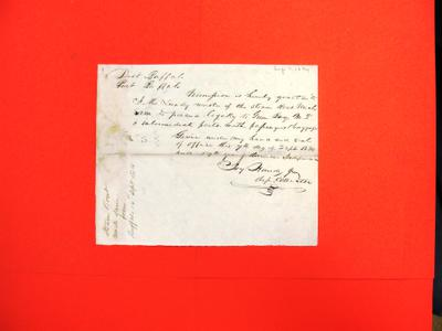 Steamboat, Uncle Sam, Correspondence, 07 Sep 1834