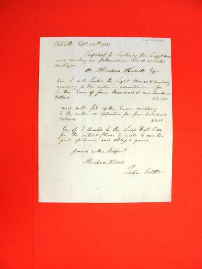 Correspondence, 20 Sep 1835, John Scott to Abraham Wendell
