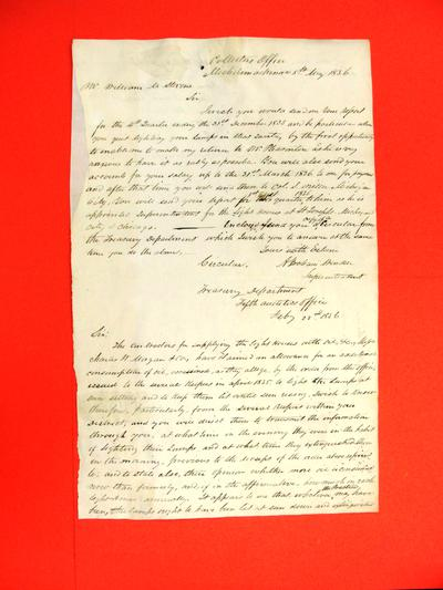 Correspondence, 5 May 1836, Abraham Wendell to William M. Stevens