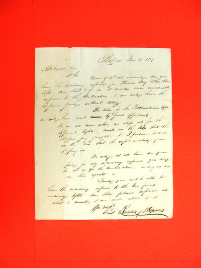 """Correspondence, 14 Jun 1837, """"Russell & Hawes, Buffalo to Abraham Wendell"""