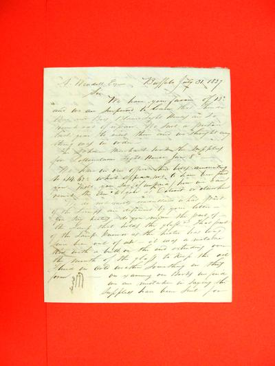 Correspondence, 31 Jul 1837, Russell & Hawes to A Wendell