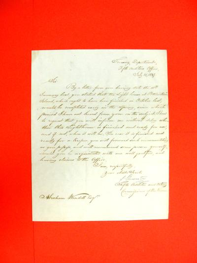 Correspondence, 31 Jul 1837, Treasury Department to Abraham Wendell