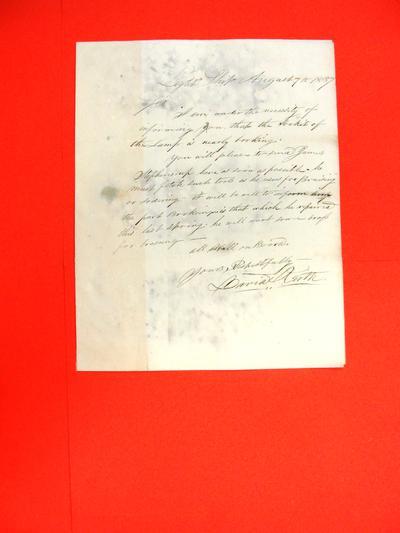 Lightship, Correspondence, 07 Aug 1837