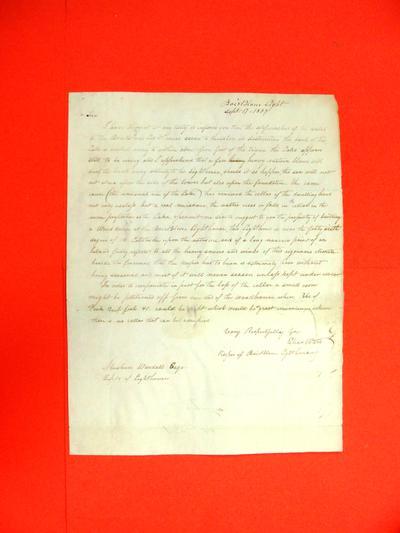 Correspondence, 17 Sep 1837, Eber Ward to Abraham Wendell