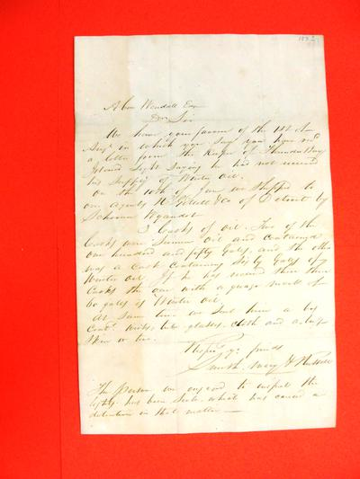 Correspondence, 1832, Smith, Macy & Russell to Abraham Wendell