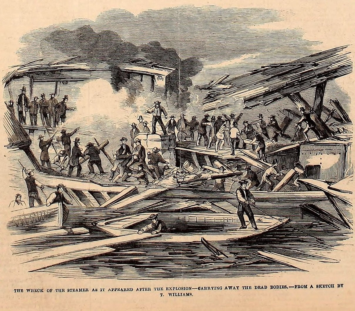 Terrible Explosion of the Steamer Globe at Chicago