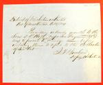 Scow D. R. Holt, Clearance, 17 Oct 1849