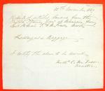 Propeller Gore, Manifest, 12 Nov 1849