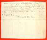 Schooner Lady Colbourne, Manifest, 28 Nov 1849