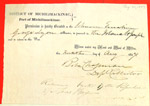 Schooner Emerline, Clearance, 20 Aug 1857