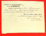 Scow Harmonia, Clearance, 29 Aug 1857