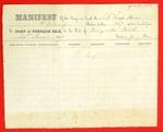 Schooner Cape Horn, Manifest, 21 Jun 1859