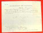 Schooner Oriental, Clearance, 12 May 1876