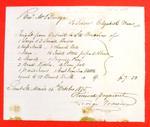 Schooner Elizabeth Ward, Invoice, 14 Oct 1835