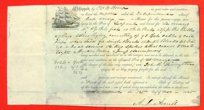 Propeller Independence, Invoice, 12 Nov 1845