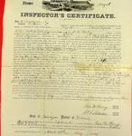 Steamer Magnet, Inspector's Certificate, 29 April 1857
