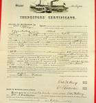 Steamer Michigan, Inspector's Certificate, 30 September 1857