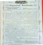 Steamer Mississippi, Inspector's Certificate, 22 April 1857